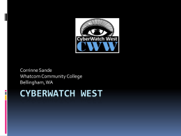 Cyberwatch West - Center Of Excellence for Information