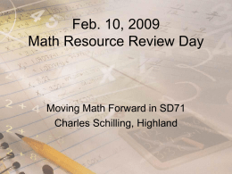 Feb. 10, 2009 Resource Review Day