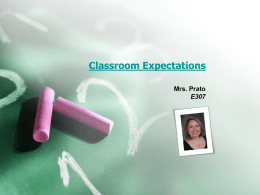 Classroom Expectations - Derry Area School District