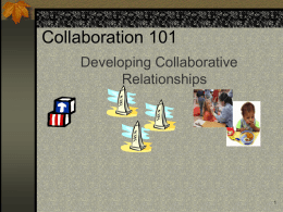 Collaboration 101 - ILEarlyChildhoodColla
