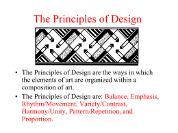 The Principles of Design - Clarkstown Central School District