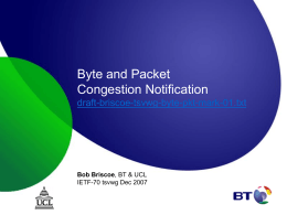 Byte and Packet Congestion Notification