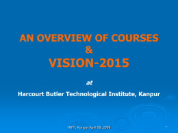 - Harcourt Butler Technological Institute