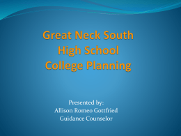 Great Neck South High School College Planning