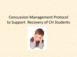 Concussion Management Protocol at CH