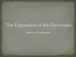 The Expansion of the Electorate