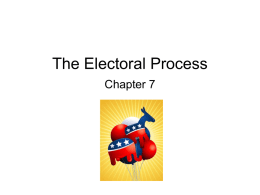The Electoral Process - North Hollywood High School