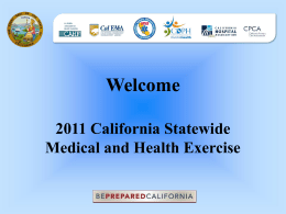 2011 California Statewide Medical and Health Exercise