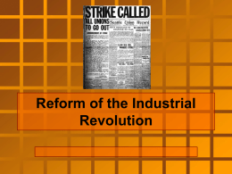 Reform of the Industrial Revolution