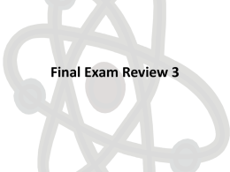 Final Exam Review - Geneva High School