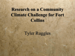 Research on a Community Climate Challenge for Fort Collins