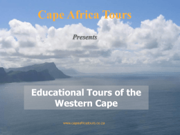 Educational Tours of the Western Cape