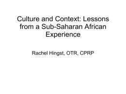 Culture and Context: Lessons from a Sub