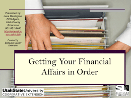 Organizing Your Important Financial Papers