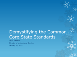 Demystifying the Common Core Standards