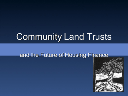Community Land Trusts - Federal Reserve Bank of Chicago