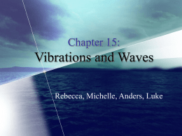 Chapter 15: Vibrations and Waves