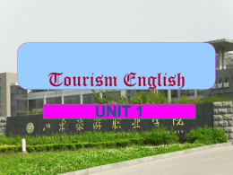 English for Tourism and Travel