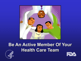 Be An Active Member