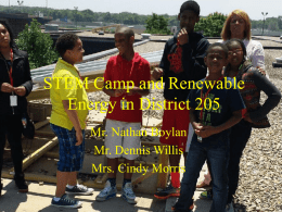 STEM Camp and Renewable Energy