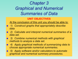 GRAPHICAL METHODS FOR QUANTITATIVE DATA