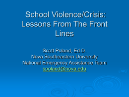 Managing Emotionality and Crisis Processing in the Schools