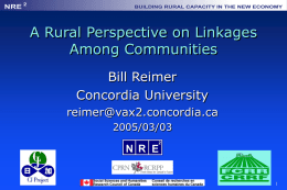 Community Linkages - Concordia University