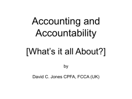 Basic Accounting Requirements