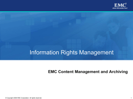 Information Rights Management