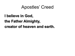 Apostles' Creed - Better Gatherings