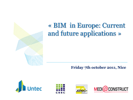 BIM in Europe: Current and future applications &#187
