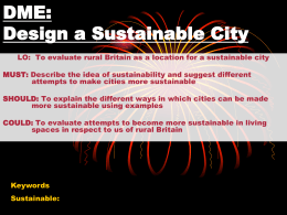 DME: Design a Sustainable City