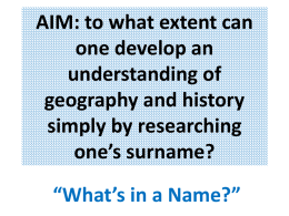 AIM: To what extent can one develop an understanding of