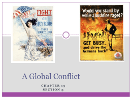 A Global Conflict - Madison County Schools