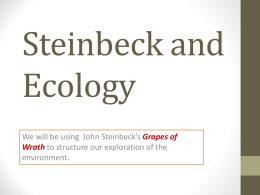How Green Was Steinbeck? - PPT