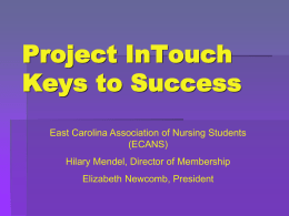 Project Intouch Keys to Success