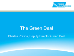 The Green Deal - Good Homes Alliance