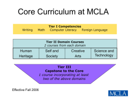 Core Curriculum at MCLA