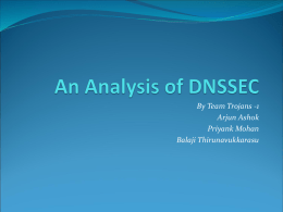 An Analysis of DNSSEC