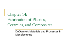 Chapter 14: Fabrication of Plastics, Ceramics, and Composites
