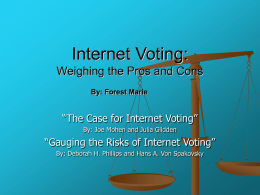 Internet Voting Pros and Cons
