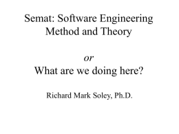 Semat: Software Engineering Method and Theory or What are