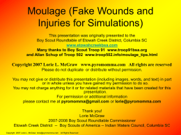 Moulage: Fake Wounds for simulations