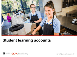 Student learning accounts - Queensland Curriculum and