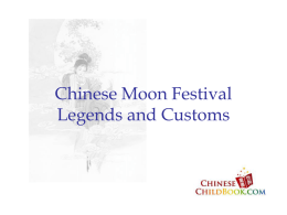 Chinese Moon Festival Legends and Customs