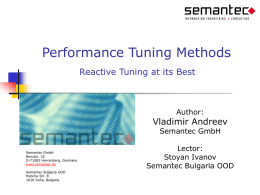 Performance Tuning Methods