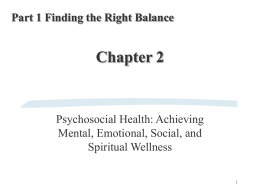 PSYCHOSOCIAL DIMENSIONS OF HEALTH