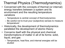 Thermal Physics - OWU Online | Go OWU