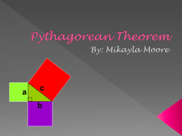 Pythagorean Theorem - Mrs. Rivero's Math Classes