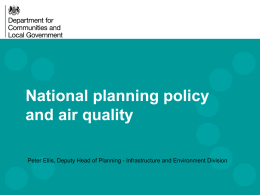 DCLG's new planning guidance
